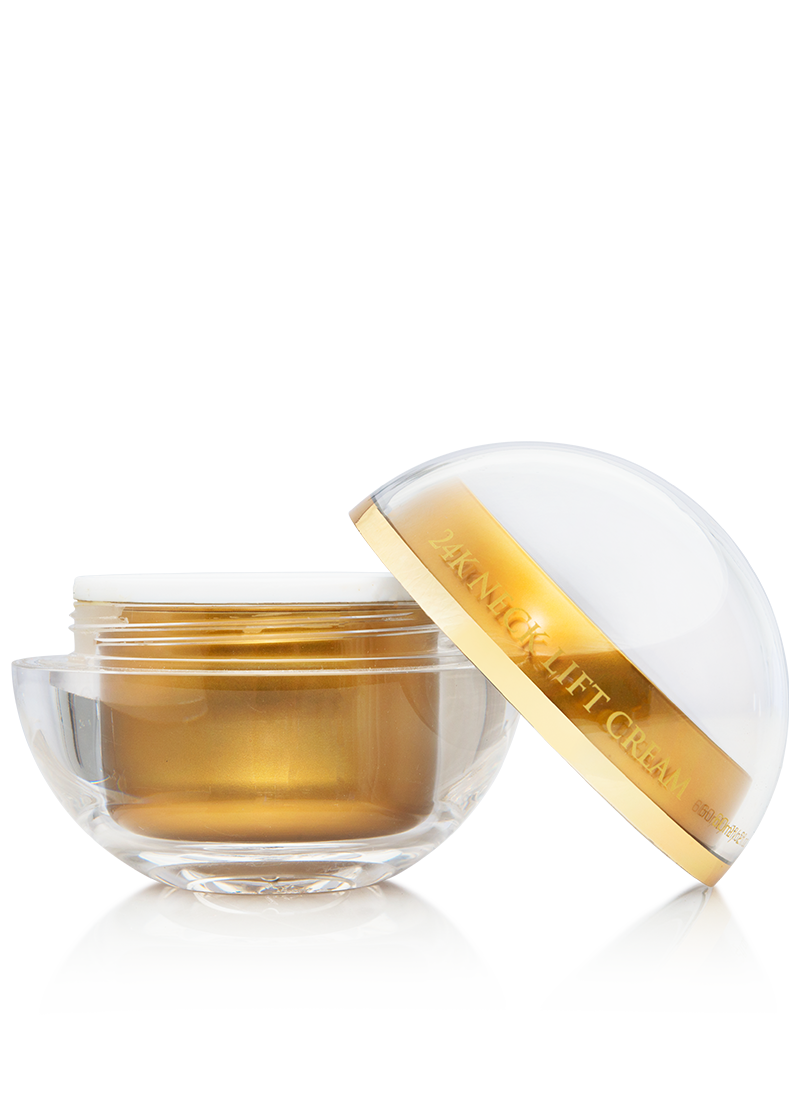 necklift cream with removed lid