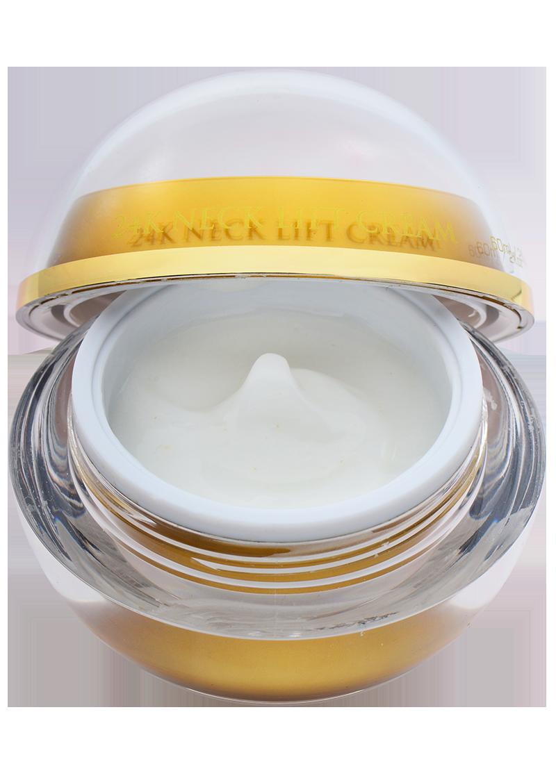 close up of necklift cream